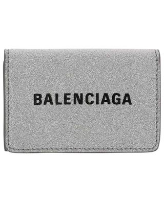 Glitterbedeckte Mini-Brieftasche Everyday BALENCIAGA