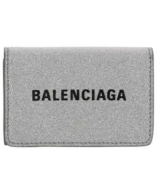 Glitterbedeckte Mini-Brieftasche Everyday BALENCIAGA