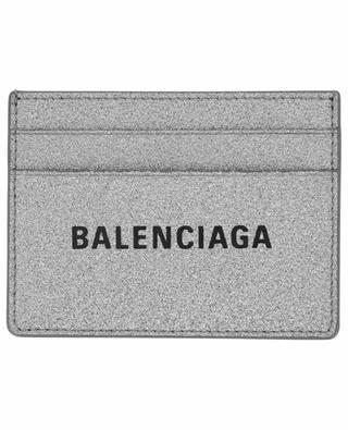 Kartenetui aus Glitter-Leder Everyday BALENCIAGA