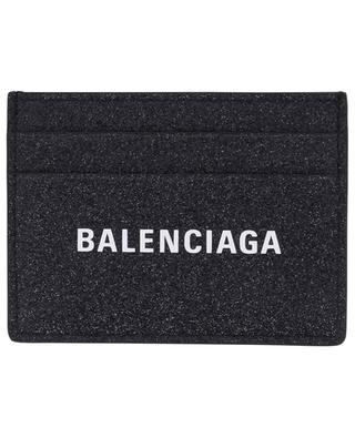 Everyday glitter leather card holder BALENCIAGA