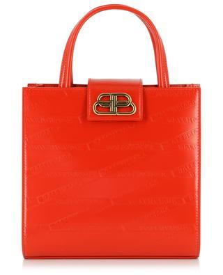 Sharp XS diamond print leather tote bag BALENCIAGA