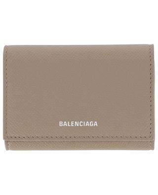 Ville Accordeon grained leather card holder BALENCIAGA