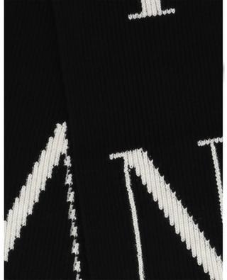 VLTN scarf with oversized fringes VALENTINO