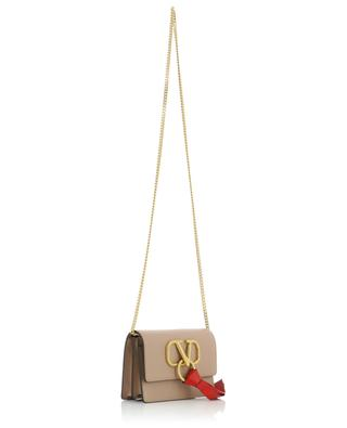 V-RING leather pouch with chain strap VALENTINO