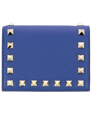 Kleine Brieftasche aus genarbtem Leder Rockstud VALENTINO