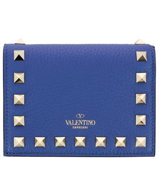 Petit portefeuille en cuir grainé Rockstud VALENTINO