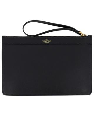 VLOGO Medium zippered leather pouch VALENTINO