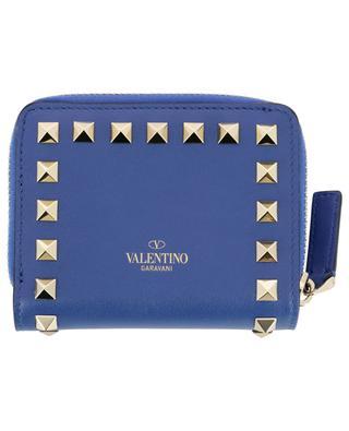 Mini-Brieftasche aus nietenbesetztem Leder Rockstud VALENTINO