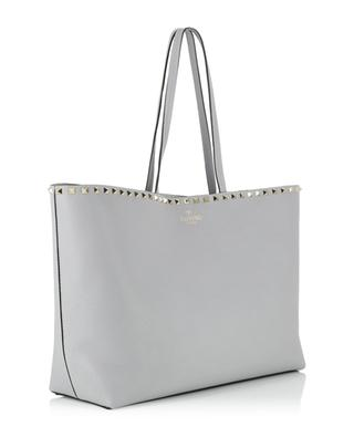 Rockstud Shopper grained leather tote bag VALENTINO