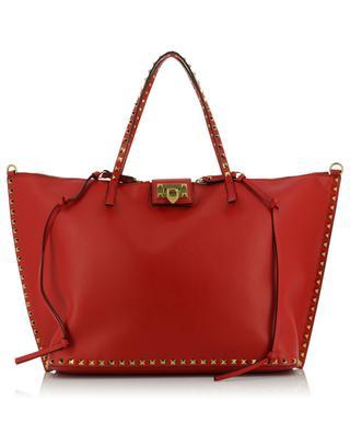 Rockstud large grained leather tote bag VALENTINO