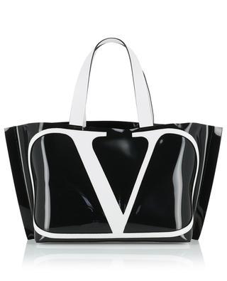 Sac en polymère et cuir VLOGO Beach Bag Small VALENTINO