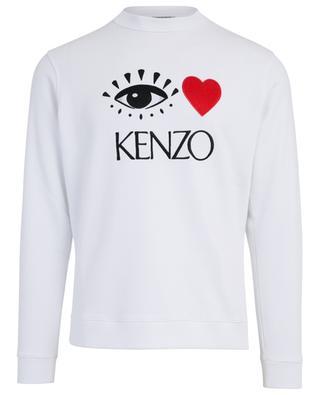 Sweat-shirt brodé d'un oeil I Love Kenzo KENZO