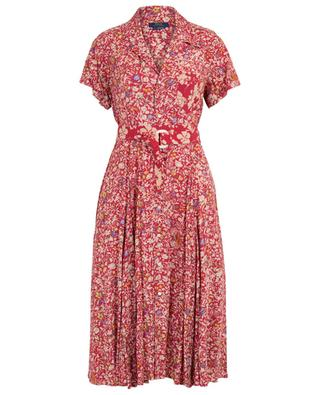Ausgestelltes Hemdkleid mit Blütenprint und Gürtel POLO RALPH LAUREN