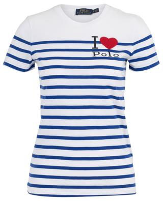 Breton T-shirt with bead embroidered heart POLO RALPH LAUREN