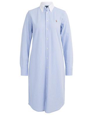 Robe chemise rayée en coton texturé POLO RALPH LAUREN