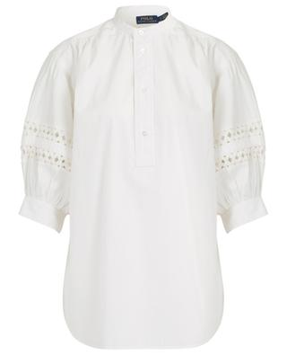 Cotton shirt with puffed sleeves POLO RALPH LAUREN