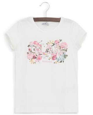 Glam floral print T-shirt MONNALISA