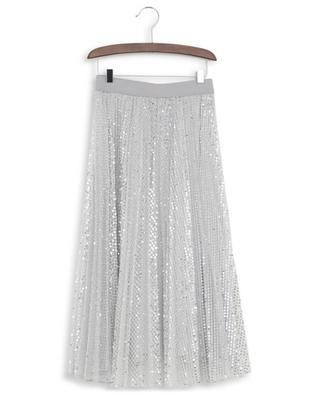 Sequin embroidered pleated tulle skirt MONNALISA
