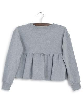 Besticktes Sweatshirt mit Schoss Monnalisa Glam MONNALISA