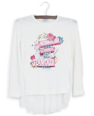 T-shirt à basque imprimé Monnalisa Fashion Glamour MONNALISA