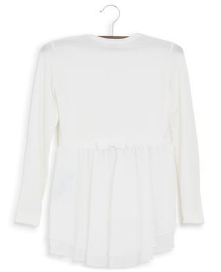 T-Shirt mit Schoss und Print Monnalisa Fashion Glamour MONNALISA