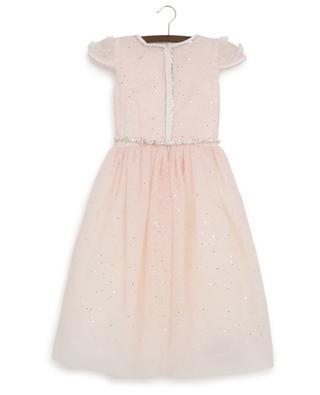 Sarah glittering embroidered tulle dress MONNALISA