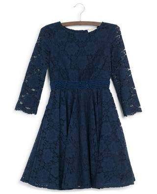 Long-sleeved floral lace dress MONNALISA