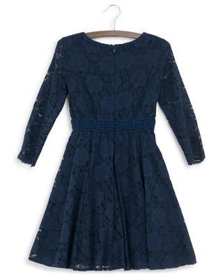Long-sleeved floral lace dress MONNALISA