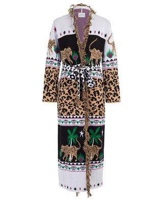 Offener Jacquard-Mantel Leopardess Duster HAYLEY MENZIES