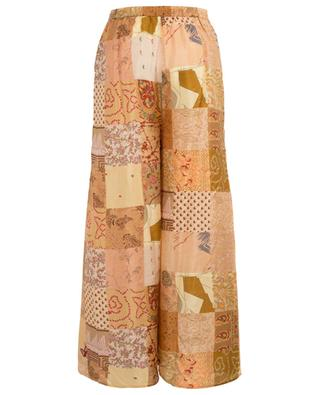 Pachamama patchwork print wide-leg trousers MES DEMOISELLES