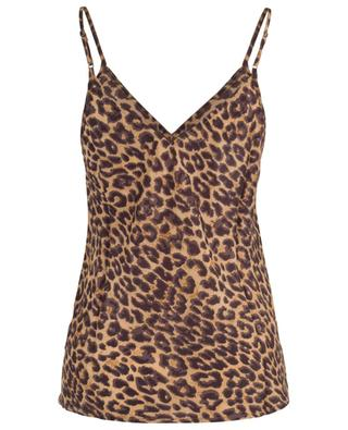 Sherly A-line strappy top with panther print MES DEMOISELLES