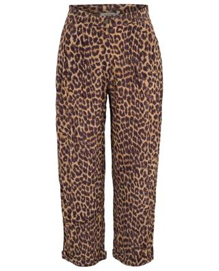 Steven cropped panther print trousers MES DEMOISELLES
