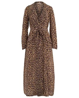 Sting long panther print trench coat MES DEMOISELLES