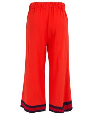 Pantalon large raccourci en viscose avec ruban Web GUCCI