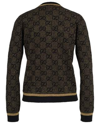 GG Lamé short black and gold cardigan GUCCI