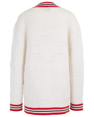 Wool and silk blend long cardigan GUCCI