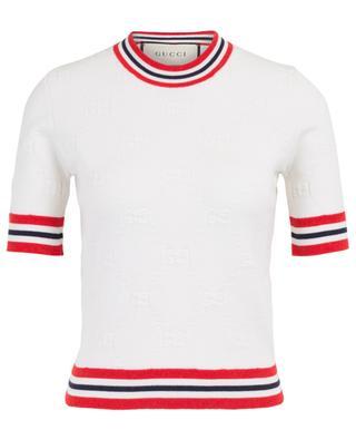 GG knit short sleeved jumper GUCCI