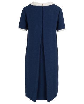 Zweifarbiges A-förmiges Kleid aus Bouclé-Tweed mit Schleife GUCCI