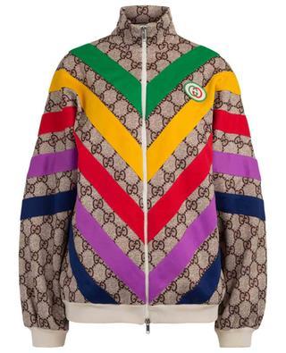 Sweat-shirt zippé en coton mélangé GG Supreme GUCCI