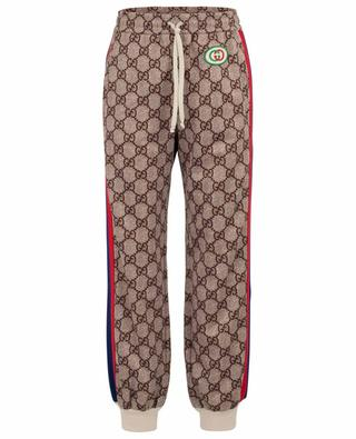 GG logo cotton blend jogging trousers GUCCI