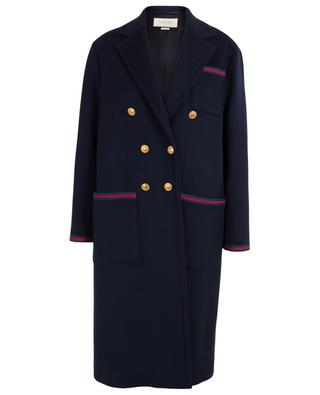 Sylvie Web double-breasted coat GUCCI