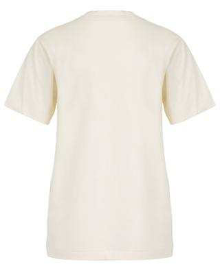 T-Shirt aus Baumwolle mit Gucci Tennis-Stickerei GUCCI