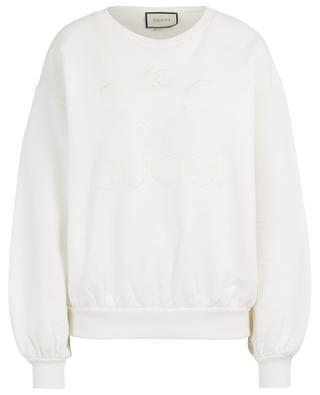 Sweat-shirt en coton broderie Gucci Tennis GUCCI