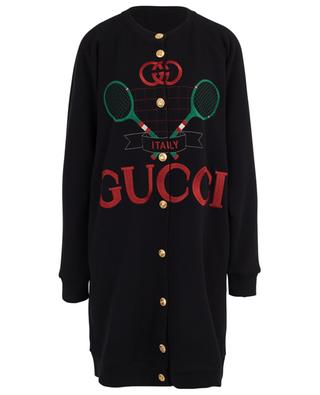 Gucci Tennis long reversible sweat cardigan GUCCI
