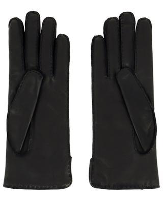 Gucci logo leather gloves GUCCI