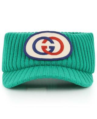 GG patch knit visor GUCCI