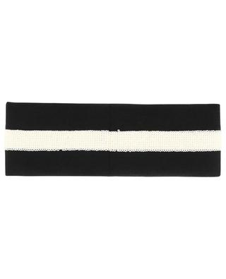GG sequined knit headband GUCCI