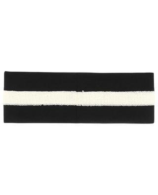 Strick-Stirnband mit Pailletten GG GUCCI