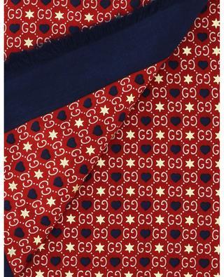 Foulard monogrammé orné d'étoiles et de coeurs GUCCI