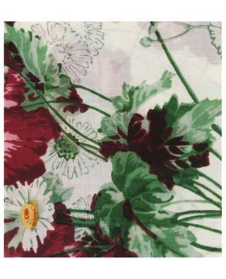 Foulard fleuri en laine GG Jacquard GUCCI